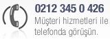 Telefon ile destek 0212 345 0 426