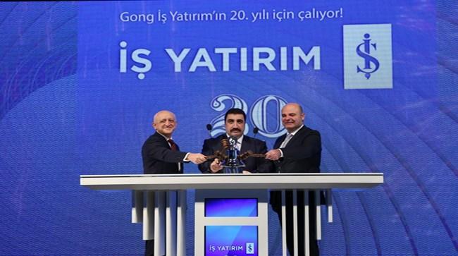 Borsa İstanbul'da Gong bugün, İş Yatırım'ın 20. kuruluş  yıldönümü için çaldı.