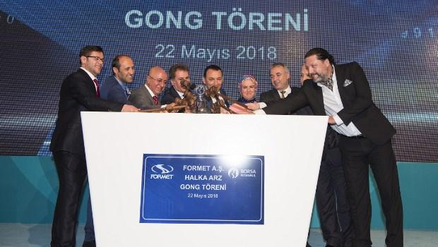 Yüzde 43'ü halka arz edilen Formet Çelik Kapı şirket payları 22 Mayıs 2018 tarihinden itibaren FORMT koduyla işlem görmeye başladı.