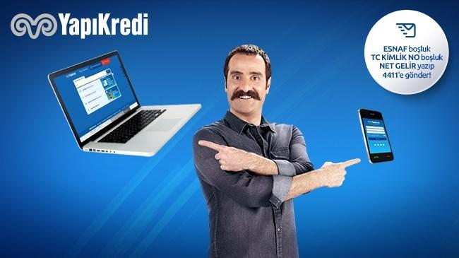 Yapı Kredi'de esnafımızın kredi başvurusu ister web'den, ister cepten!