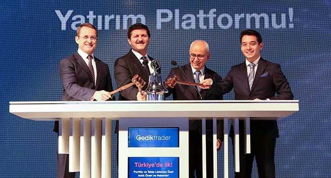Borsa İstanbul Gongu, yeni işlem platformu Gedik Trader'ın lansmanını yapan Gedik Yatırım için çaldı.
