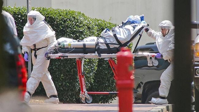 Ebola hastalarının tedavisi için bulunduğu Batı Afrika ülkesi Gine'den New York'a dönen doktora ebola teşhisi kondu