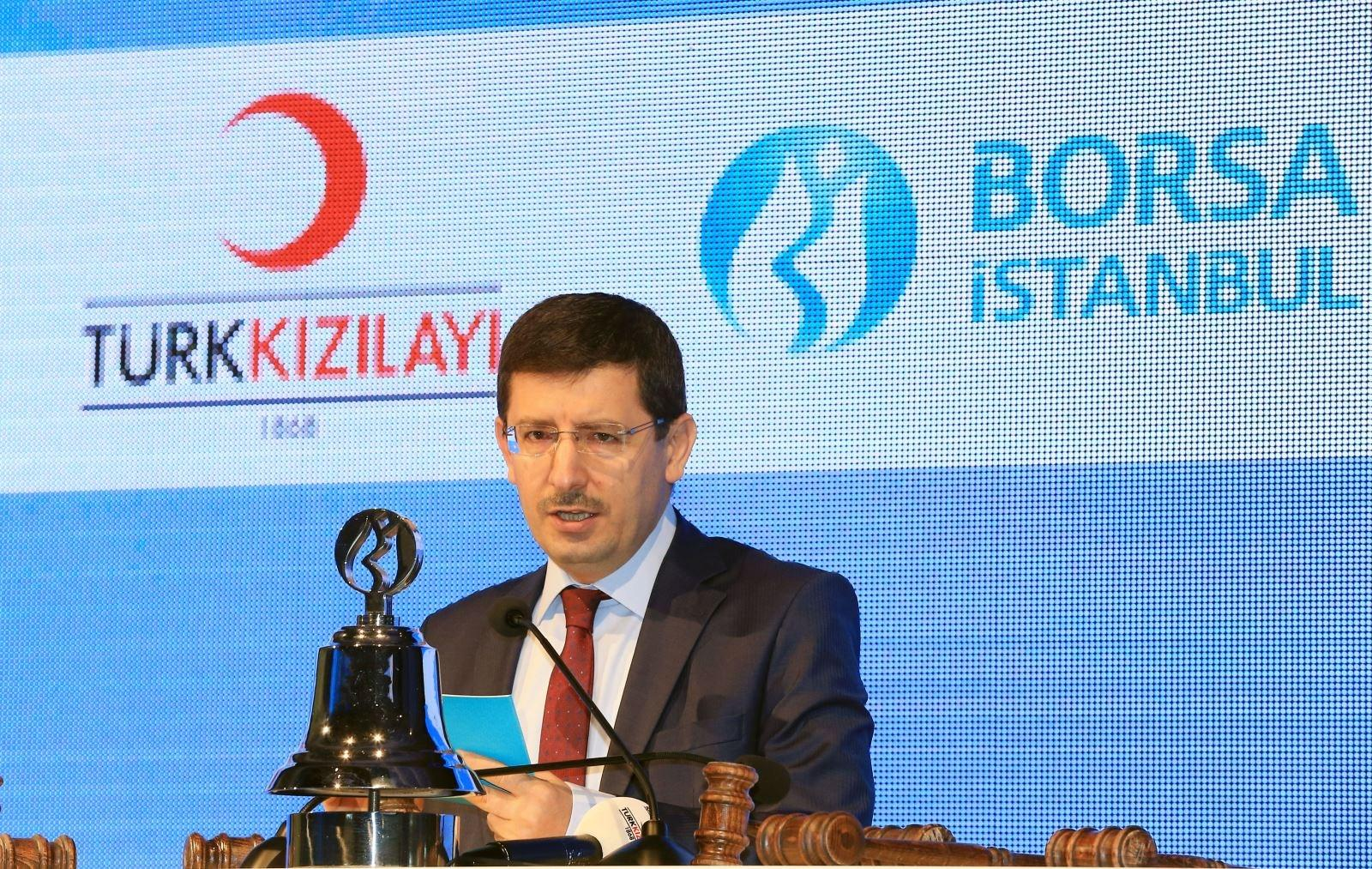 """Borsa İstanbul'da gong, bugün Türk Kızılayı işbirliğiyle 'Kan Bağışı Kampanyası' çerçevesinde """"hayat"""" için çaldı."""