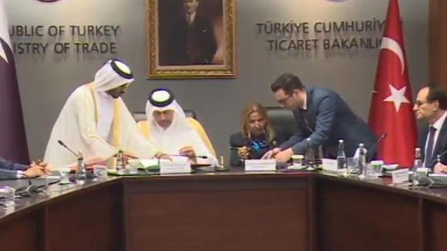 Katar ile imzalar atıldı   Ekonomi Haberleri